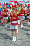 Drummers girls Royalty Free Stock Photo