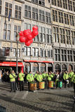 Drummers on Grote Market , Antwerp Royalty Free Stock Images