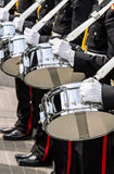 Drummers of military band on parade Stock Images