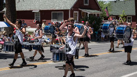 Drummers at Mohawk Valley Parade Royalty Free Stock Images