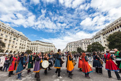 Drummers and musicians playing traditional music Royalty Free Stock Photo