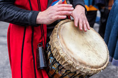 Drummers and musicians playing traditional music Stock Photography