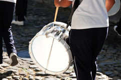 Drummers in a parade Royalty Free Stock Photography