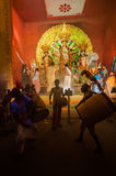 Drummers performing at Durga Puja festival, India Stock Photo