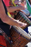 Drummers playing at a Saturday market Penticton, British Columbi Stock Photography
