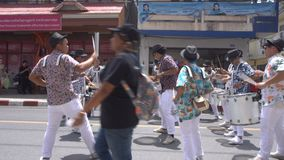 Drummers at Samui Festival, Thailand - 7 September 2017 stock footage