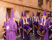 Drummers at Semana Santa in Murcia Royalty Free Stock Photo