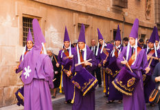 Drummers at Semana Santa in Murcia Stock Photo