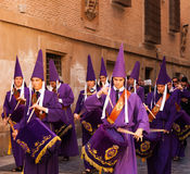 Drummers at Semana Santa in Murcia Stock Photography
