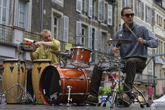 Drummers in the street Royalty Free Stock Photography