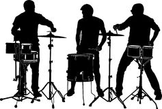 Drummers. Vector illustration of a drummer Royalty Free Stock Image