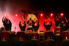 Drumming band Royalty Free Stock Photography