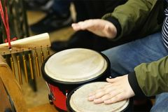 drumming closeup stock images