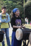 Drumming practitioners Royalty Free Stock Photo