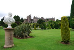 Drummond Castle Gardens Royalty Free Stock Images