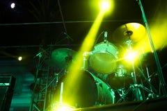 Drumms on stage Stock Photos