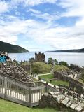 Drumnadrochit, Inverness/United Kingdom - August 8, 2017: Urquhart Castle in Drumnadrochit, Inverness in the United Kingdom stock photography