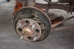 Drump brake repairing Stock Photos