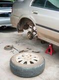 Drump brake repairing Royalty Free Stock Images