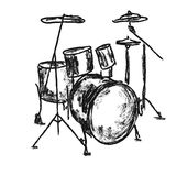 Drums. Series of musical instruments drums Royalty Free Stock Photography