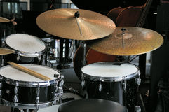 Drums. A drum waiting for a concert with various drums and percussion royalty free stock image