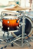 Drums. Musical instruments on stage, ready for the gig Royalty Free Stock Image