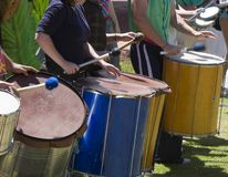 Drums. Drummers in a Samba group Stock Image