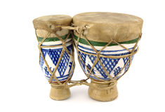 Drums. Old African drums made of ceramic Royalty Free Stock Images