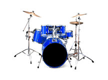 Drums. Blue drums isolated over white background Royalty Free Stock Images