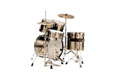 Drums. Golden Drums isolated over white background Royalty Free Stock Image