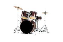 Drums. Drum kit isolated over white background Stock Photo
