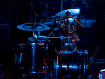 Drums. In the beautiful concert light Stock Photography