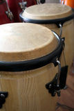 Drums. Lined up and in close up Royalty Free Stock Images
