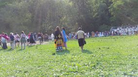 Drums Along The Hudson 2015 Part 6 61. DRUMS ALONG THE HUDSON® features Manhattan's only open air pow wow, which is a celebratory gathering of Native American Stock Photo