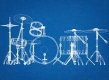 Free Drums Architect Blueprint Stock Images - 119787594