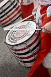 The drums from Batala Banda de Percussao Stock Image