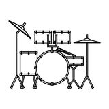 drums battery isolated icon Royalty Free Stock Image