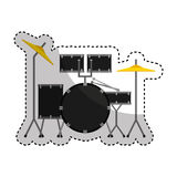 drums battery isolated icon Stock Image