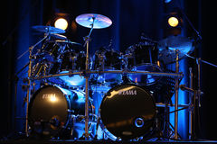 Drums of   Billy Cobham live on stage in ICE Cracow, Royalty Free Stock Photo