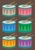 Drums cartoon  Royalty Free Stock Images