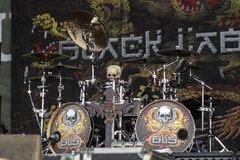 Drums of Chad Szeliga - Black Label Society Royalty Free Stock Image
