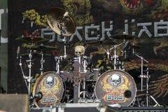 Drums of Chad Szeliga - Black Label Society Royalty Free Stock Image