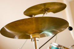 Drums conceptual image. Photo of cymbals Royalty Free Stock Image
