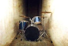 Drums conceptual image. Drum set. Stock Photo