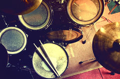 Drums conceptual image. Royalty Free Stock Photography