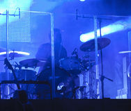 Drums during concert Stock Photography