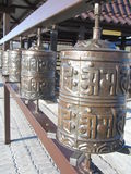 Drums. Datsan for Buddhist prayer Royalty Free Stock Image