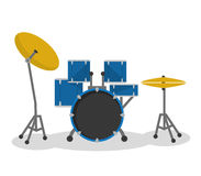Drums icon. Music instrument. vector graphic Royalty Free Stock Photography