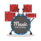 Drums icon. Music instrument. vector graphic Stock Photos