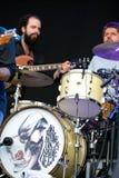 The drums of Jero Romero (Spanish band) at FIB Festival Stock Image